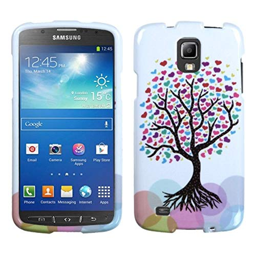 Candy Skin Case Cover - Insten Love Tree TPU Rubber Candy Skin Case Cover Compatible with Samsung Galaxy S4 Active GT-I9295, Pink/White