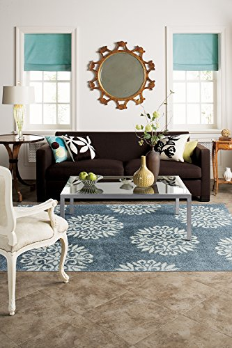 - Mohawk Home Huxley Exploded Medallions Woven Rug,  8'x10',  Bay Blue