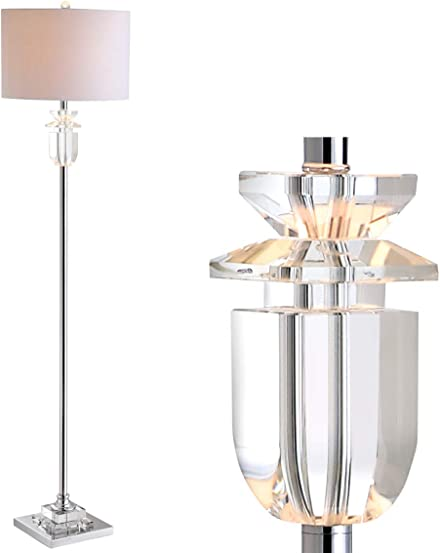 "JONATHAN Y JYL1046A Aria 63"" Crystal/Metal LED Floor Lamp Contemporary,Glam,Transitional"