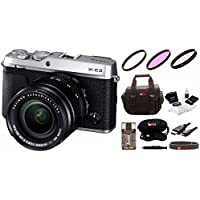Fujifilm X-E3 Mirrorless Camera w/XF18-55mm Lens Kit & Focus Camera Gadget Bag
