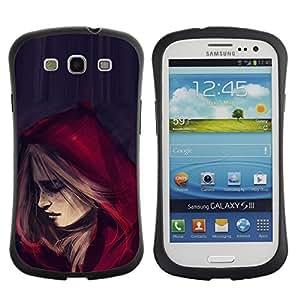 LASTONE PHONE CASE / Suave Silicona Caso Carcasa de Caucho Funda para Samsung Galaxy S3 I9300 / Riding Hood Cape Fashion Woman