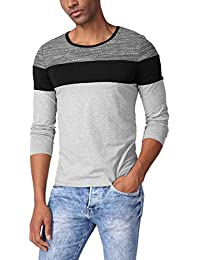 "<span class=""a-offscreen"">[Sponsored]</span>Men's Basic Color Block Round Neck Long Sleeve Knitted T-Shirt Top"