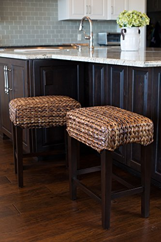 Bird Rock Home Seagrass Backless Counter Stool Set Of 2