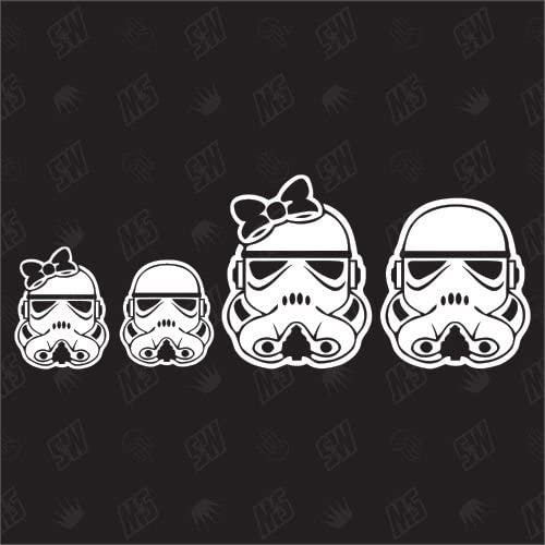 1 boy Sticker Star Wars Family with 1 girl