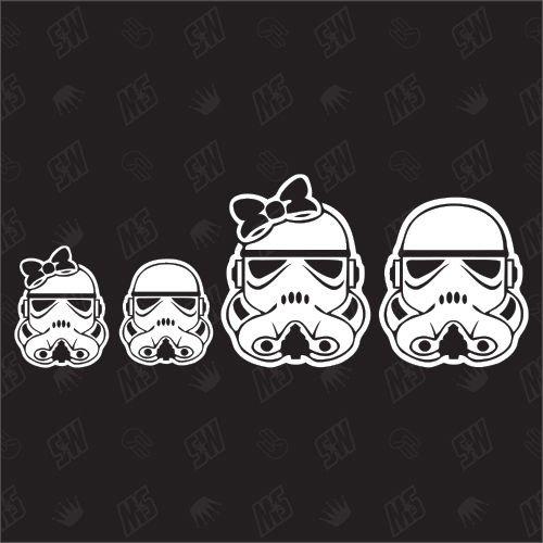 Star Wars Family with 1 girl + 1 boy - Sticker speedwerk-motorwear
