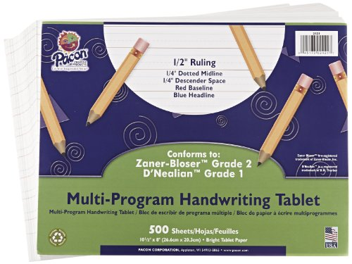School Specialty Handwriting Paper - 1/2 Rule, 1/4 Dotted...