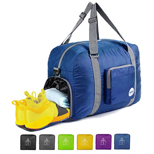 "20"" Foldable Duffle Bag 40L for Travel Gym Sports Lightweight Luggage Duffel By WANDF, Navy Blue from WANDF"