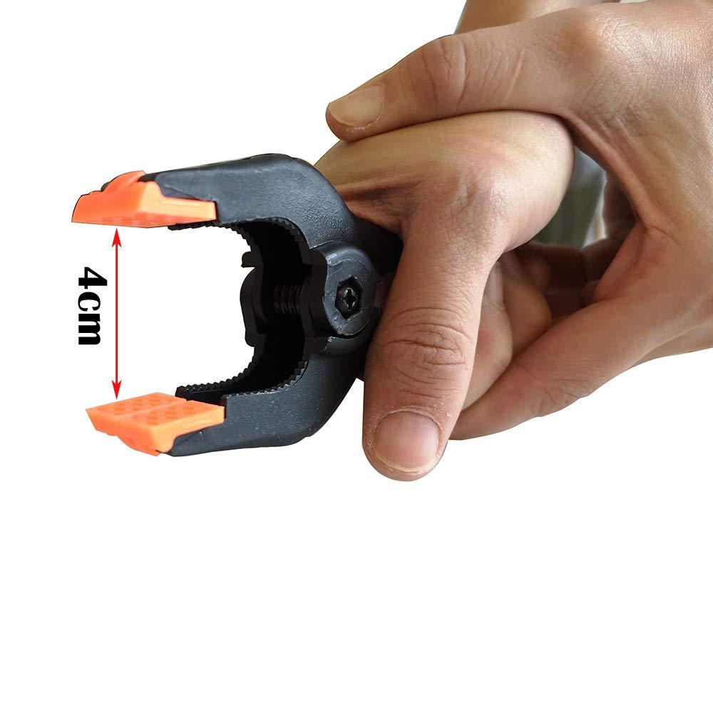 KINYOOO 4 pcs 4,5 pouces Pinces Clips Universels pour Studio Papier Toile Mousseline Toile de Fond Heavy Duty Pinces /à Ressort menuiserie Pinces /à Ressort.
