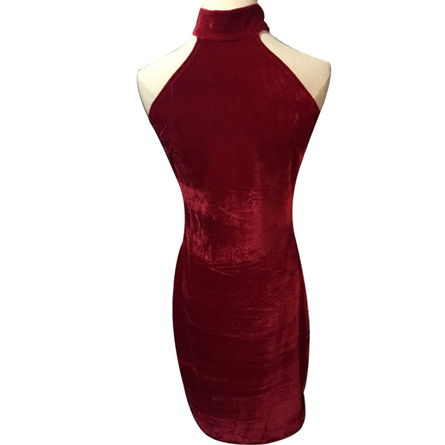 Shilanmei Women's Red Off Shoulder Sexy Package Hip Dresses