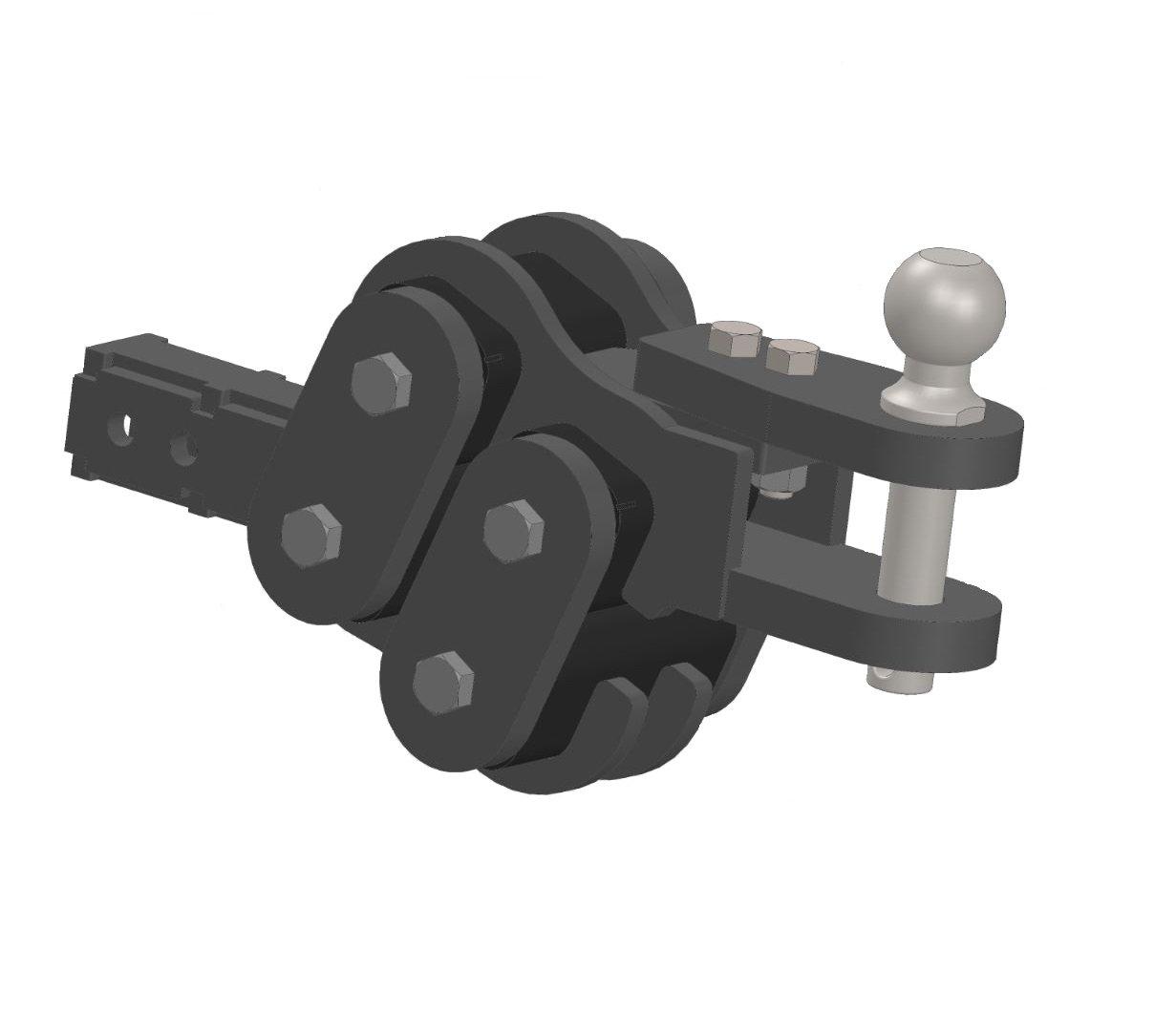 GEN-Y Hitch GH-9001 AG Horizontal Torsion Drawbar for 2.5 Shank