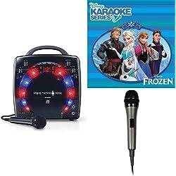 Singing Machine SML283BK CDG Karaoke Player (Black) With Disney's Frozen Karaoke CD, and Extra Microphone Bundle
