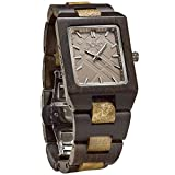 JORD Wooden Wrist Watches for Men or Women - Reece Series / Wood Watch Band / Wood Bezel / Analog Quartz Movement - Includes Wood Watch Box (Gold Camphor & Khaki)