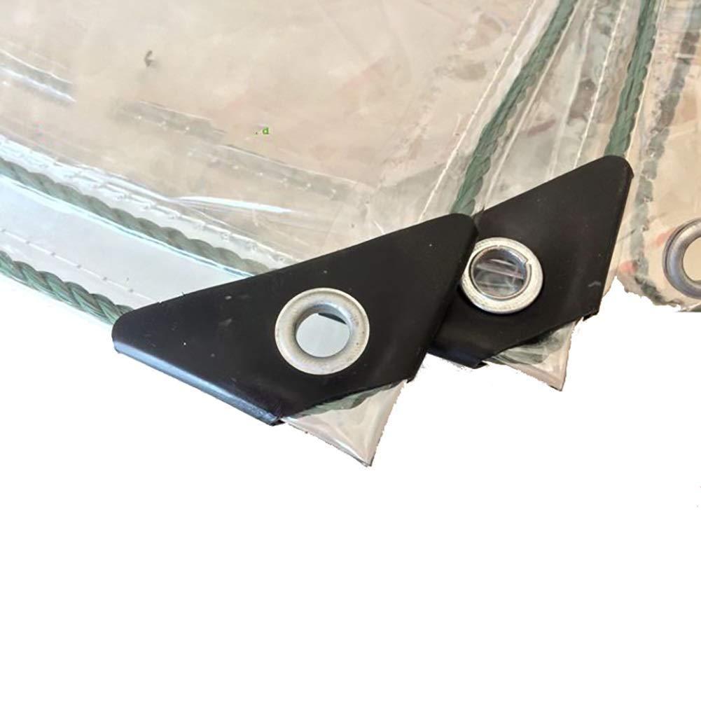 Verdicken Sie schweren Planenponcho vielseitig transparente Plane PVC mit perforierter Doppelschicht verstärkter Randaufreißer saftige Sonnencreme winddichtes Sonnenschutzfenster Balkon Isolation, 500