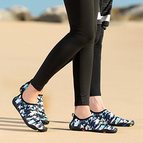 Camo Water Dry Socks Women Lightweight On Shoe Shoes Slip Men Blue Mutifunctional Aqua Surfing Swimming Yoga Barefoot Quick Walking nAIU1qqS