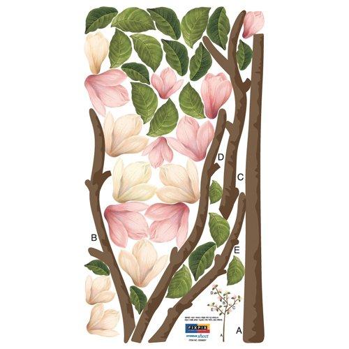 Nursery Easy Apply Wall Sticker Decorations – ECO Pink Flower Tree, Baby & Kids Zone