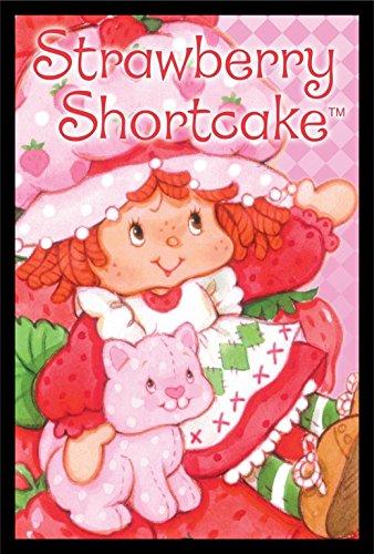 FRAMED Strawberry Shortcake and Custard 36x24 Art Print Poster Wall Decor Girls Room Cute Sweet The World of Strawberry (Strawberry Shortcake Poster)