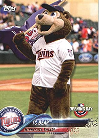 new product c4298 1b1b6 Amazon.com: 2018 Topps Opening Day Mascots #M-15 TC Bear NM ...