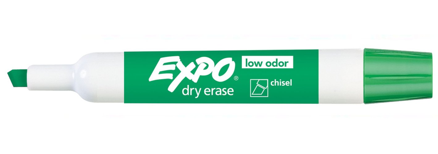 Expo 80004 Low Odor Dry Erase Markers, Chisel Tip, Green Color, 12 Sets with 12 Markers, Total of 144 Markers by Expo (Image #1)