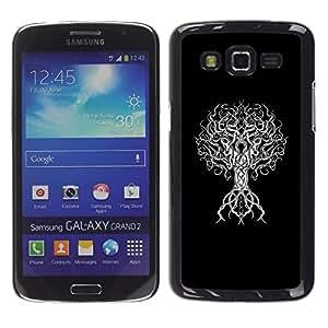 Caucho caso de Shell duro de la cubierta de accesorios de protección BY RAYDREAMMM - Samsung Galaxy Grand 2 SM-G7102 SM-G7105 - Deep Minimalist Meaning