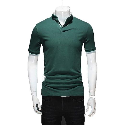 Camiseta Manga Corta Hombre Para hombre Casual Camisas Slim Fit ...