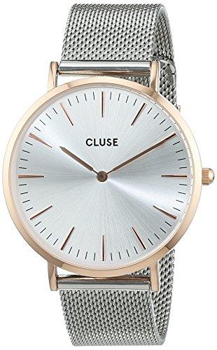 Cluse Damen-Armbanduhr Analog Quarz Edelstahl CL18116
