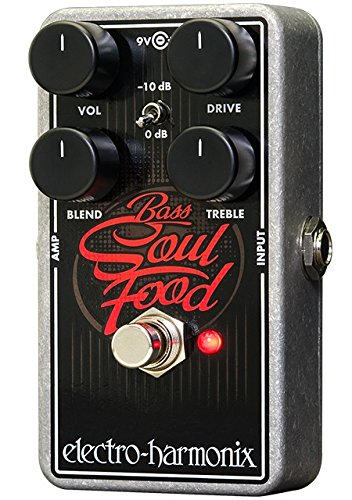 (Electro-Harmonix Bass Soul Food Bass Distortion Effects Pedal)