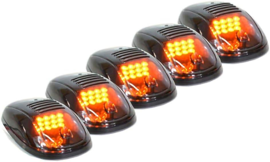 Airymap Cab Feux de gabarit 5 pcs Ambre Jaune LED Cab Toit de marqueur Running lumi/ères de d/égagement pour camion SUV