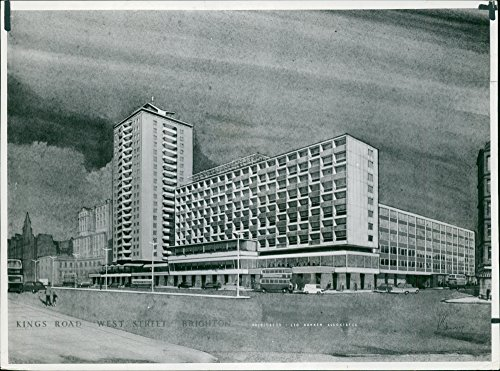 - Vintage photo of Skyscraper Block for Brighton Sea-Front