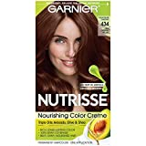 chestnuts Garnier Nutrisse Nourishing Hair Color Creme, 434 Deep Chestnut Brown (Chocolate Chestnut)  (Packaging May Vary)