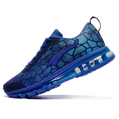 Onemix Homme Femme Air Sneakers Respirante fitness Mixte adulte Sports Jogging Chaussures Lune Bleue