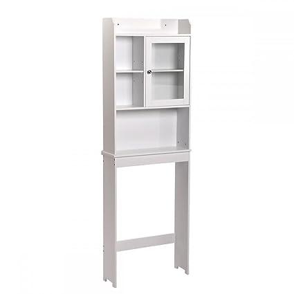 Toilet Cabinet Collection Bathroom Spacesaver Orginzer Storage Shelves  1 Door