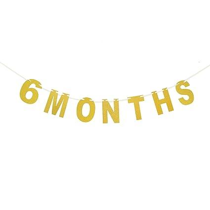 Amazon.com: Banderines de 6 meses – 1/2 cumpleaños – Baby ...