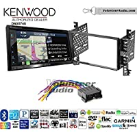 Volunteer Audio Kenwood DNX574S Double Din Radio Install Kit with GPS Navigation Apple CarPlay Android Auto Fits 2001-2006 Hyundai Elantra