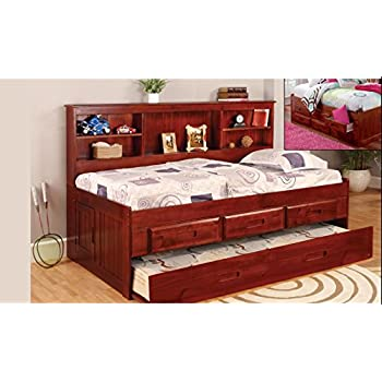 Discovery World Furniture Twin Daybed Bookcase With 6 Drawers 5 Drawer Chest Bookshelf In