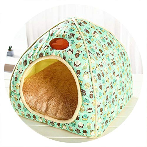 colorful-space Dog House New Folding Dog Bed for Dog House with Mat Pets Product Cats House Teddy Supplies,03,XL ()