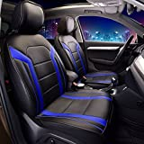 08 pontiac g6 accessories - FH Group Leatherette Blue Car Seat Cushions PU208BLUE102 Set of 2 Airbag Compatible