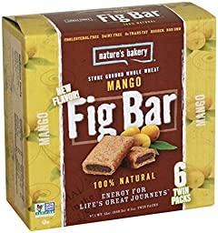 Nature\'s Bakery Whole Wheat Fig Bars - Mango - 6 ct