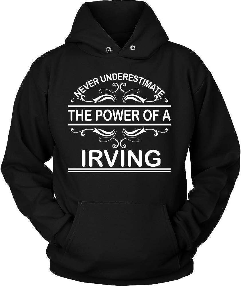 KENTEE Never Underestimate The Power of Irving Hoodie Black Hoodie Black