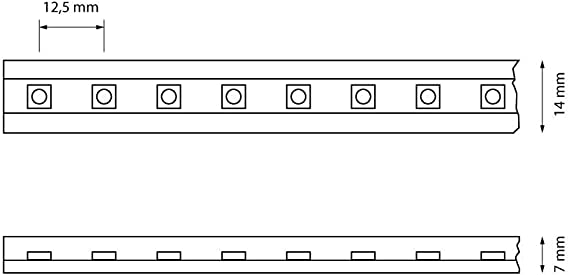 PREISHIT CLE Netzteil Einspeiser für LED Stripe Schlauch 50m 230V 5050 LEDs weiß