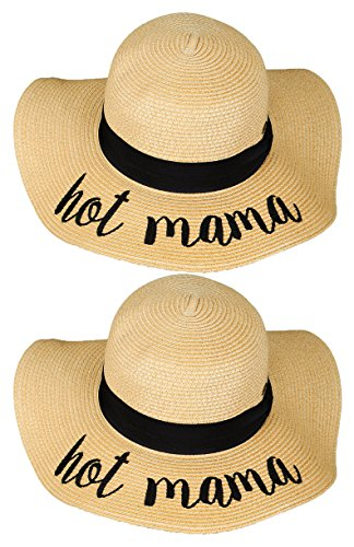 H-2017-BUNDLE-HMx2 Embroidered Sun Hat 2 Pack - Hot Mama
