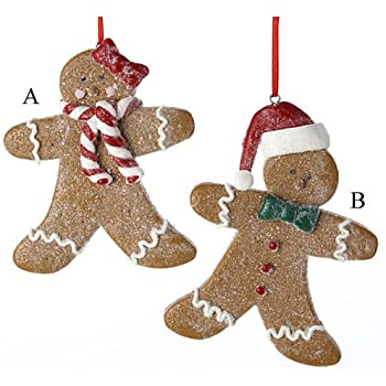 NEW RETIRED KURT ADLER 4 ASSORTED GINGERBREAD COOKIE ORNAMENTS