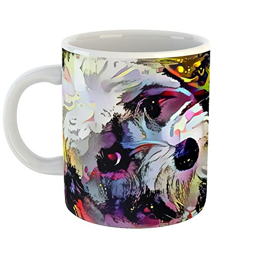 Westlake Art - Havanese Breed - 11oz Coffee Cup Mug - Abstract Artwork Home Office Birthday Christmas Gift - 11 Ounce (E0E3-C3B25)