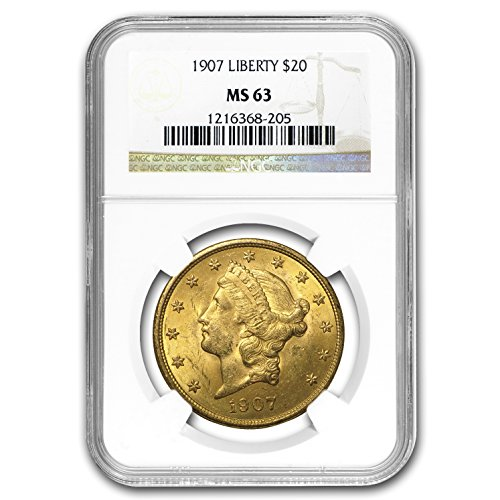 1907 $20 Liberty Gold Double Eagle MS-63 NGC G$20 MS-63 NGC