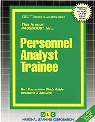 personnel analyst trainee passbooks career examination series c rh amazon com  NYC Staff Analyst Trainee