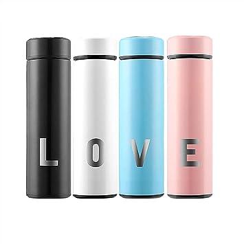 Botella de Agua Acero Inoxidable, Love (Conjunto de 4) 500 ...