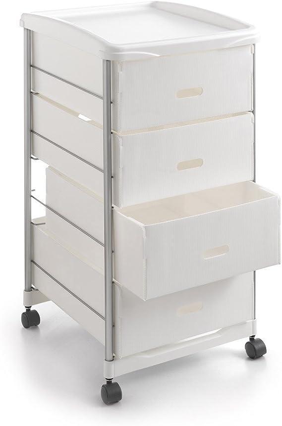 Metaltex BASEL - Carro multiuso para cocina y baño con cuatro ...