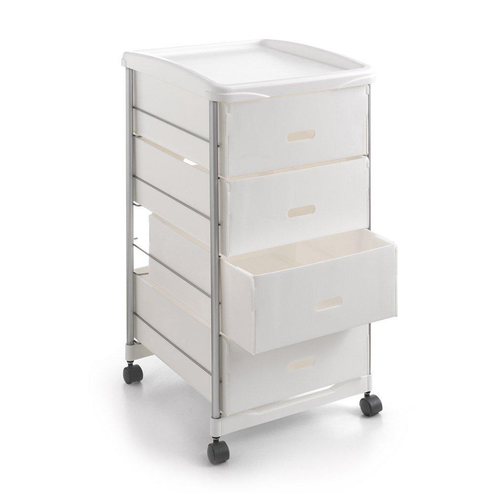 Metaltex BASEL - Carro multiuso para cocina y baño con cuatro cestos extraíbles, 35x41x72 cm: Amazon.es: Hogar