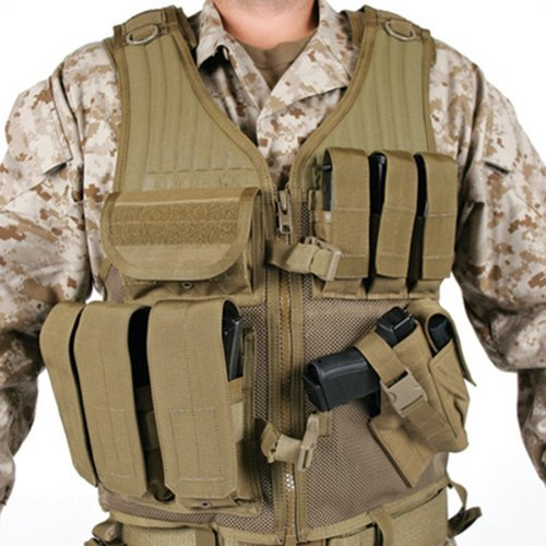BLACKHAWK! Omega Cross Draw/Pistol Mag Vest - Coyote Tan Right