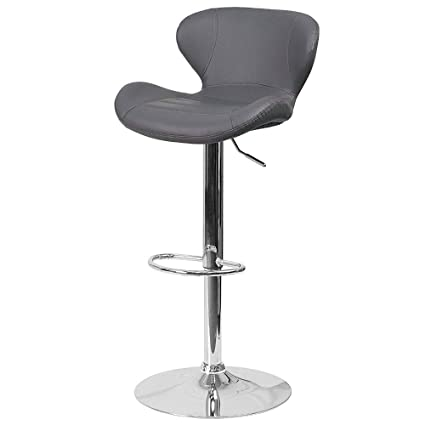 the latest 84346 a91d8 Amazon.com: Tufted Barstool with Foot Ring Back Seat ...