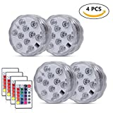 LED Mini Party Light for Paper Lantern Balloons 10 Pacs, WHATOOK Battery Operated Lantern Light for Wedding Party Halloween Christmas Decoration